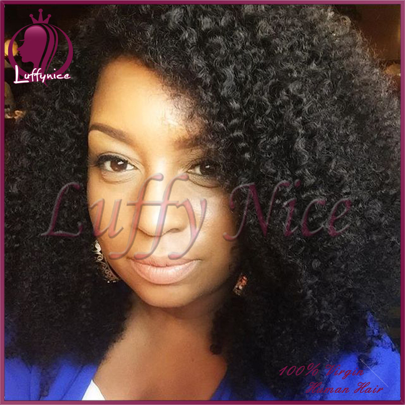 Cheap Curly Short Human Hair Wigs For Black Women Glueless Kinky Curly Lace Front Wig Virgin Brazilian Lace Front Human Hair Wig<br><br>Aliexpress
