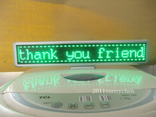 """Green Programmable LED Moving Scrolling Message Display Sign Board 21""""x4""""(China (Mainland))"""