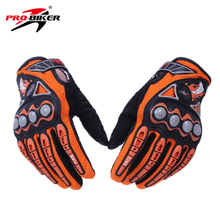 PRO-BIKER Men Motorcycle Racing Gloves Dirt Bike Cycling Gloves Motocross Off-Road Enduro Full Finger Riding Gloves Size: M L XL