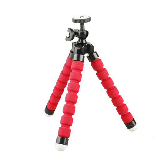 2015 New Gopro Mini Flexible Octopus Tripod Bracket Selfie Stand Mount Monopod Adjustable Accessories For iphone Camera(China (Mainland))