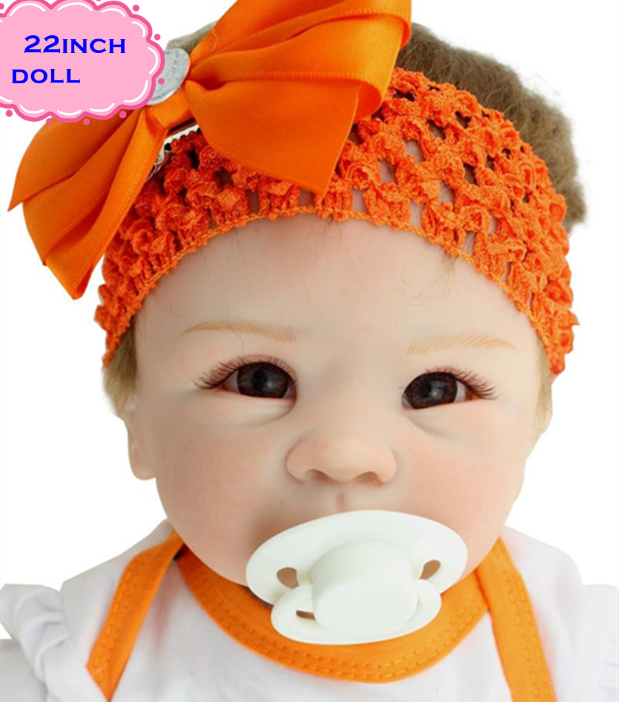 Фотография High Quality Real Silicone Baby Dolls Of NPK Dolls Brand About 22inch Safe Feelgood Reborn Dolls Babies Brinquedos For Children