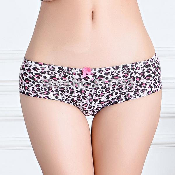 Hot Sale 2015 Leopard Print Underpants Ladies Underwear 86805