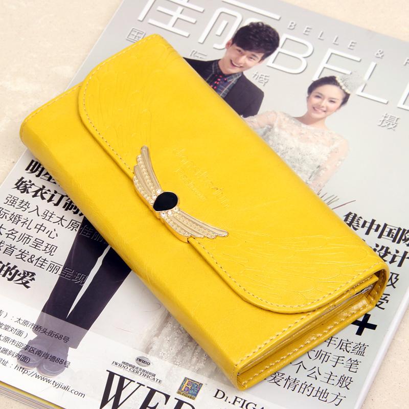 2013 women's wallet long design wallet metal pattern candy color fold women's wallet(China (Mainland))