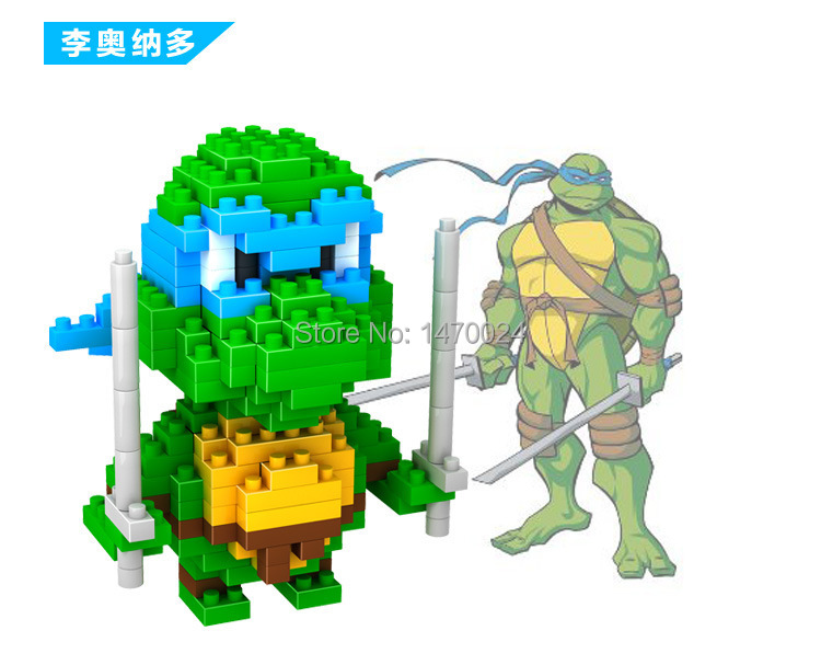 LOZ Diamond Blocks Models Building Toys Educational Enlighten Gift Teenage Mutant Ninja Turtles Series - Keny Toy Kingdom Co.,Ltd store