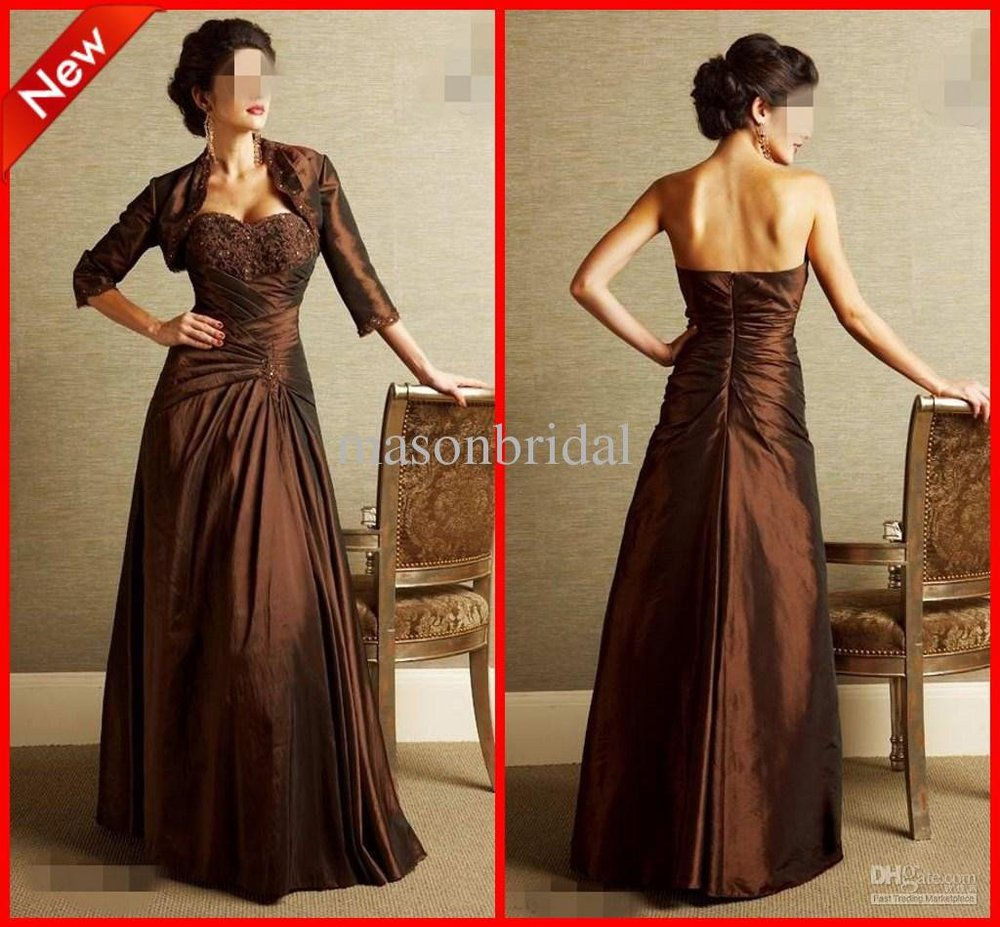Beaded Prom dress Hot Sexy Mother of the Bride Dresses Taffeta A-line Strapless Pretty Fold Applique(China (Mainland))