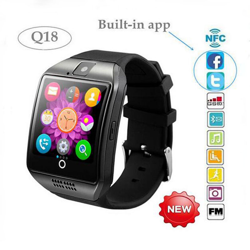 2016 Heat NEW Bluetooth smart watch q18 Apro smartwatch Support NFC SIM Card Video camera Support Android/IOS Mobile phone(China (Mainland))