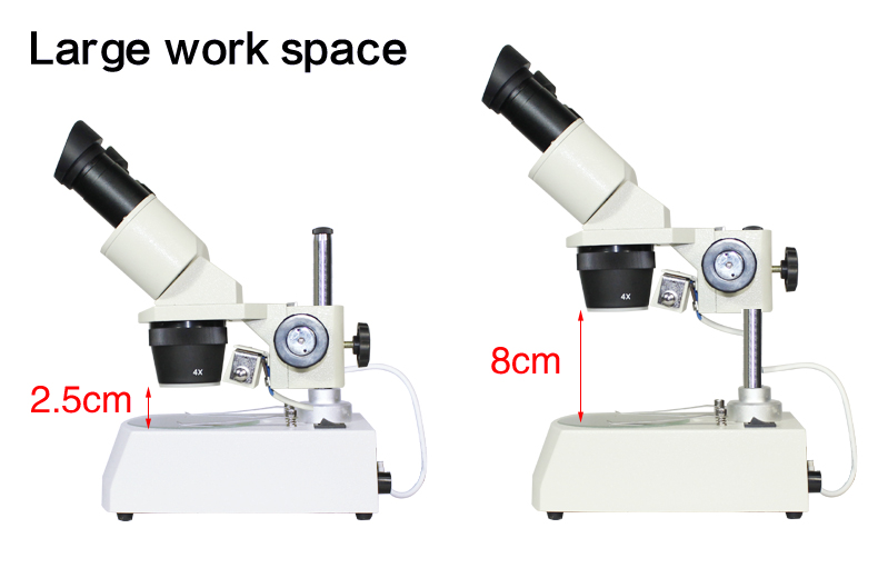 Top Quality 20-40X Industrial Binocular Stereo Microscope with Light for PCB Repairing Soldering Phone Repair Up and down LED