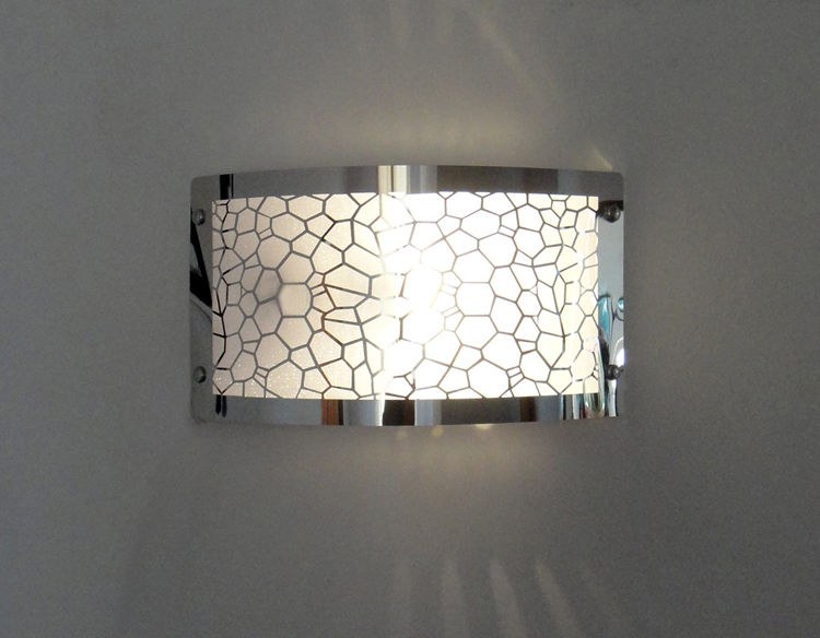 Free shipping modern fashion carving 220v E27 wall lamps Stainless steel iron lampshade wall ...