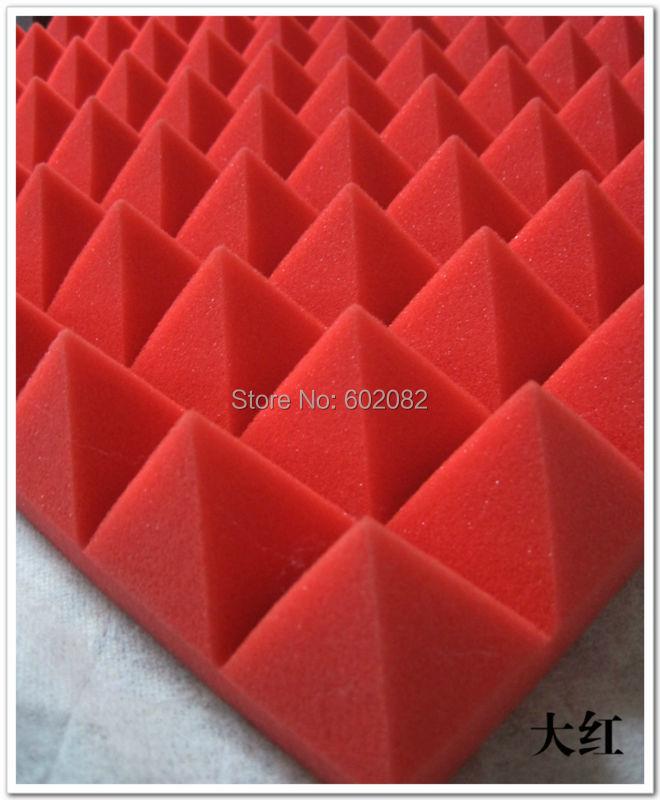 Здесь можно купить  2015 New arrival Pyramid Acoustic Soundproofing Studio Foam Protection Wall Tiles New Red color 10pcs 50*50*8cm free shipping  Строительство и Недвижимость