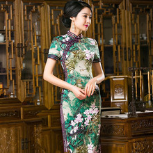 Buy Hot Sale Traditional Chinese Style Ladies Cheongsam Classic Satin Long Qipao Dress Vestido Clothing Size S M L XL XXL 246022 for $54.00 in AliExpress store