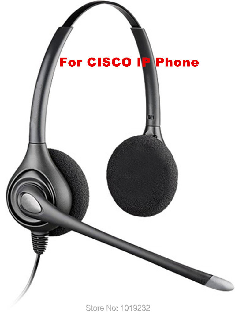 2 Extra ear pads +Office Telephone Headset Headphone for Cisco Telephone CP-7940 7941 7942 7945 7961 7975 6911 8941 8945 9951(China (Mainland))