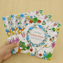 School Office Book Fantasy Dreams 24 Pages Hand Painted Graffiti Coloring Books of the Relieve Stress Painting Book(China (Mainland))