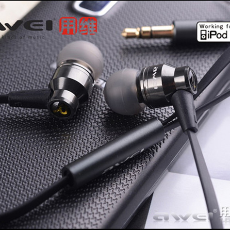 Awei ES800M 3.5mm In-ear Earphones Super Clear Bass Metal Headphone Noise isolating Earbud for MP3 MP4 Cellphone(China (Mainland))