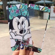 0.25mm Cute Bowtie Minnie Anti-shock Front Back 2.5D Tempered glass Film Screen Protector Skin Sticker Cover for iphone6/6s plus