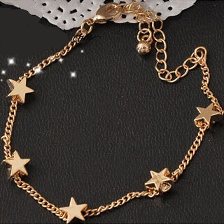 Wholesale New Lady Girls Bangle Simple Gold Filled Chic Heart ...