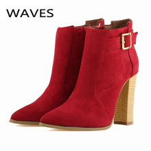 Drop shipping 2015 autumn winter fashion women boots plus size bottes femmes zipper martin ankle boots for women sexy lady shoes