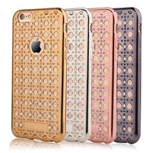 Luxury Grid Design Bling Diamond Electroplating soft TPU phone Cases Samsung Galaxy J1 J5 J7 A3 A5 A7 2016 Back Cover bags - GMFIVE International Trade Co. Ltd store