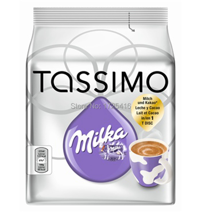 2015 German original Tassimo Milka hot cocoa and coffee capsules free shipping