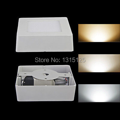 5pcs+ Free shipping 12W Square Surface Mounted LED Ceiling Light Aluminium  Panel White Living Room Light  Lamp Square AC85-265V<br><br>Aliexpress