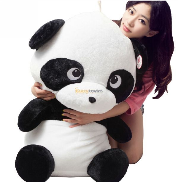 Fancytrader 35'' / 90cm Giant Lovely Stuffed Cute Plush Cartoon Giant Panda Toy, Nice Gift For Kids, Free Shipping FT50401(China (Mainland))