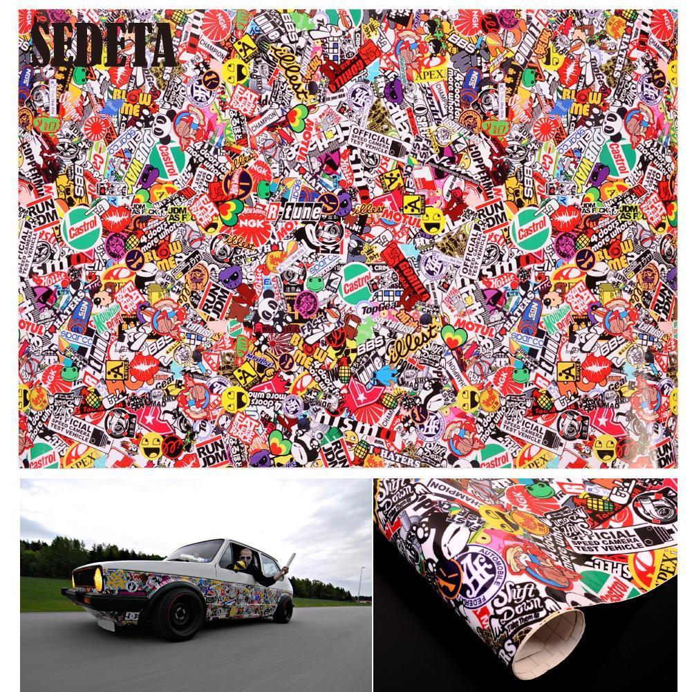 "Graffiti Cartoon JDM Bomb Car Auto Motorcycle Wrap Decor Laptop Phone 20""x30"" Decal Waterproof Vinyl Sticker(China (Mainland))"