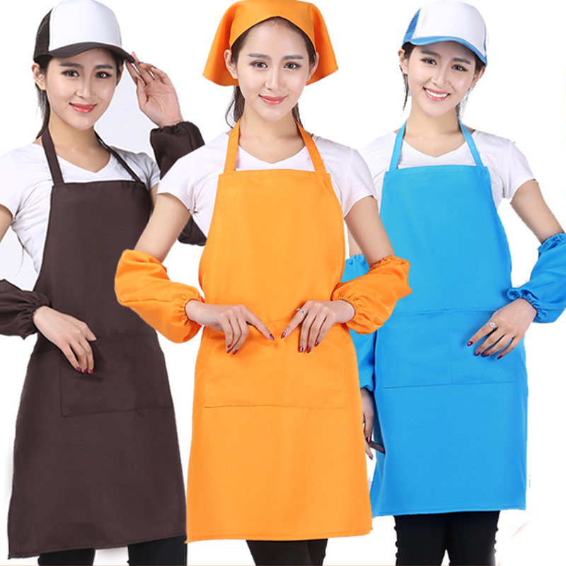Candy Colors Adjustable Apron Bib With Pocket For Housewife Home Cooking Salon Chefs Apron Uniform Restaurant Supply CJJ1054W-10(China (Mainland))