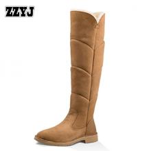 ZZYJ womens nieve botas damas botas hasta la rodilla de calidad superior Ruso invierno nieve botas zapatos de las señoras calientes recién llegados C8058(China (Mainland))