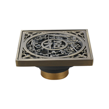 Hand-carved antique brass core covered deodorant and easy to clean floor drain odor core retro carved floor drain