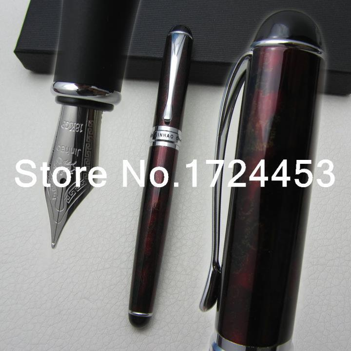JINHAO Executive Red wine B Nib Fountain Pen with gift box J1081