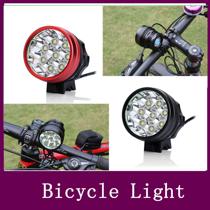 12000LM 8x CREE XML XM-L T6 LED Cycling Bicycle Bike Light Lamp 8*18650 Battery charger set Free Shipping(China (Mainland))
