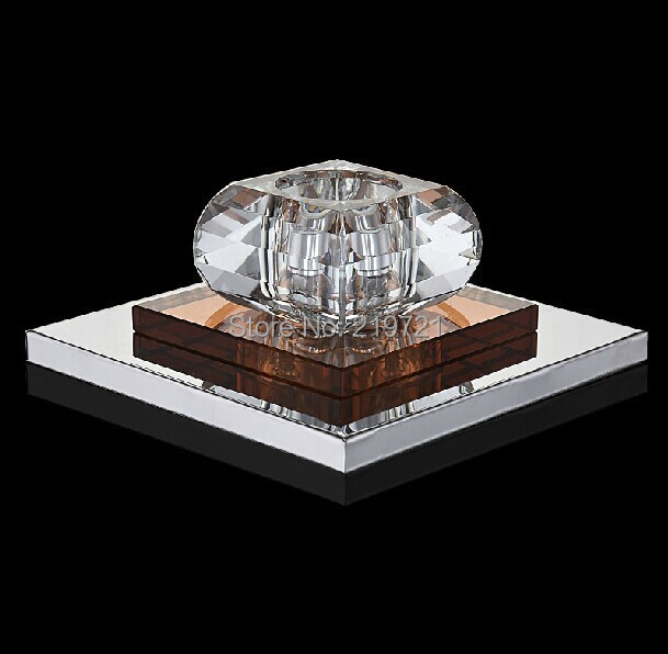 LED Lamp simple brief 3watt glass crystal modern chandeliers, small home porch led lamps , balcony lighting(China (Mainland))