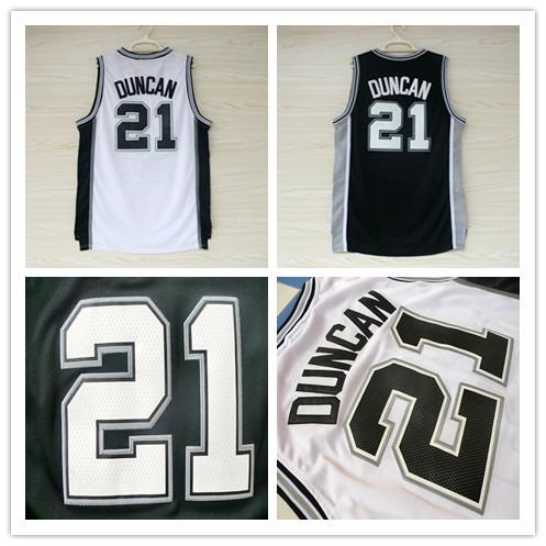 San Antonio 21 Tim Duncan Jersey, Cheap Basketball Jersey Tim Duncan New Rev 30 Embroidery Logo, Mens S-3XL Free Shipping(China (Mainland))