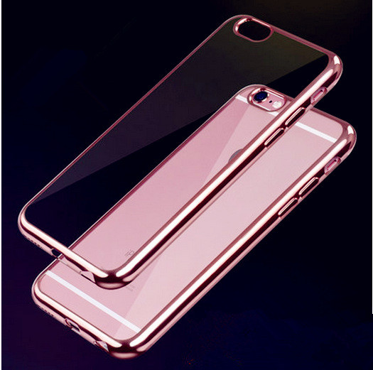 TPU Silicon Case For iPhone 6 6s Coque Half Transparent Hybrid Back Cover Luxury Soft Clear For iPhone 6 / 6S Plus Cases(China (Mainland))