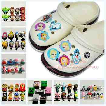 6-8PCS cartoon PVC Shoe Charms Fit Bands Bracelets Croc JIBZ,Lovely Shoe Buckles Accessories/decoration,Kids Party Gifts/Favors