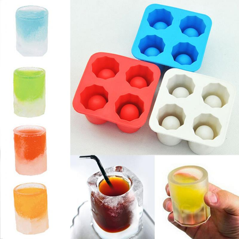 New Arrival Durable Ice Cube box Summer Drinking Tool Tray Mold Makes Ice Shot Glass Ice Mould Novelty Gifts Ice Tray(China (Mainland))