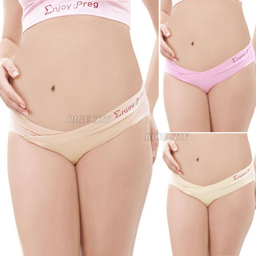 Гаджет  3X HK Free Shipping 2013 Quality Maternity Pregnant Low-waist Panties Low Rise Waist Brief Underwear Knickers Nude Pink M-XXL None Детские товары