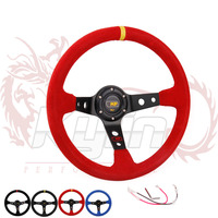 KYLIN STORE - 14inch 350mm Suede Leather MP Deep Corn Drifting Steering Wheel