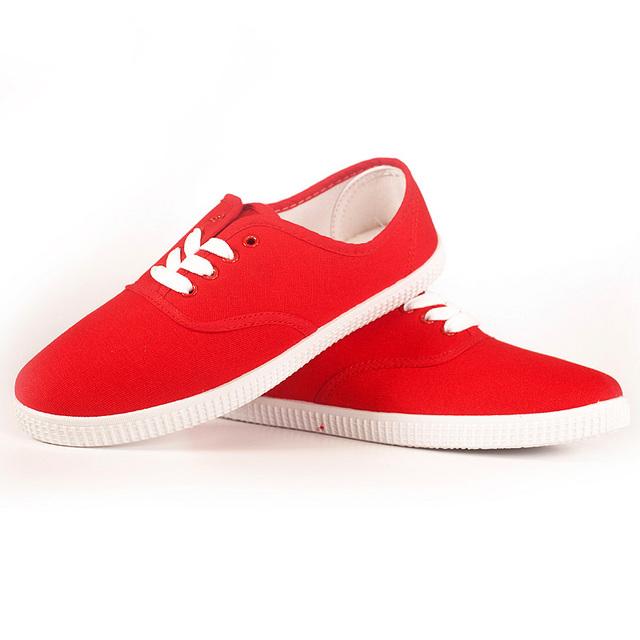 Большой размер конфеты цвет женщина парусиновые туфли плоские каблуки - большой размер ...
