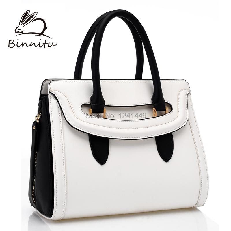 Bunny bags trend 2015 new women's handbag fashion women's bags color block one shoulder cross-body handbag genuine leather bag(China (Mainland))