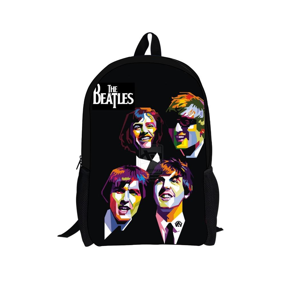 3D Characters Printing Backpack Children Backpacks,Heavy Metal Band The Beatle School Bags Men's Travel Bag,Kids Boys Book Bag