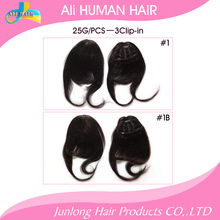 Ali hair clip in human hair bangs 25G 3clip-in #1 #1B #2 #4#6#10#27#613 clip in extension natural human hair(China (Mainland))