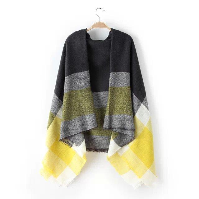 za Winter 2015 font b Tartan b font Scarf fashion Plaid Scarf Women Blanket Oversized Wrap