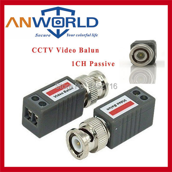 Free shipping Twisted BNC Passive Video Balun Transceiver COAX CAT5 Camera UTP Cable Coaxial Adapter for camera DVR, cctv system(China (Mainland))