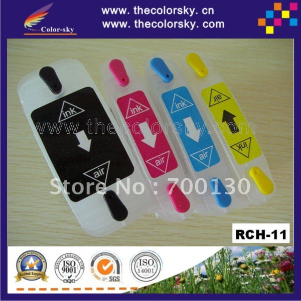 (RCH-11) Refillable Ink inkjet Cartridge for HP10 HP11 HP 10 11 C4844A c4836a Business Inkjet 1000/1100/1100d/1100dtn free DHL<br><br>Aliexpress