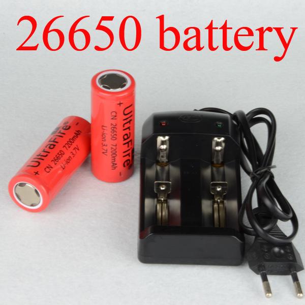 Аккумулятор 26650 2 * 7200mAh 3.7V /ultrafire 26650 + 1 x 7200mAh 26650 battery зарядное устройство duracell cef14 аккумуляторы 2 х aa2500 mah 2 х aaa850 mah