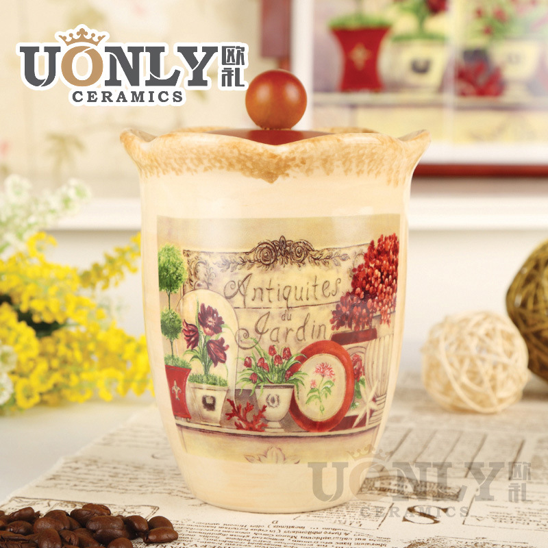 Factory Direct Ceramic Canister Storage tank ceramic sealing cans creative pastoral style of European ceramics<br><br>Aliexpress