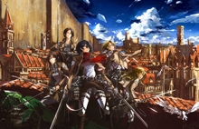 Free shipping Attack on Titan (2013) Japanese sci-fi anime Poster print silk fabric wall decoration 24x36in(1447181257766)