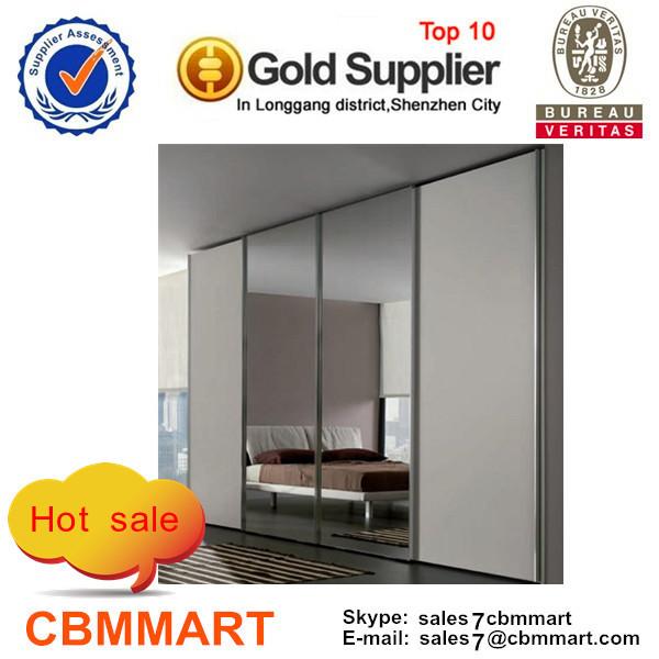 new product sliding mirror design of bedroom wardrobe/ closet furniture(China (Mainland))