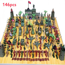 Classic Children WWII Second World War Soldier Military Model Actions Figures Set 146pcs/set Gift for Commander Boys Toys(China (Mainland))