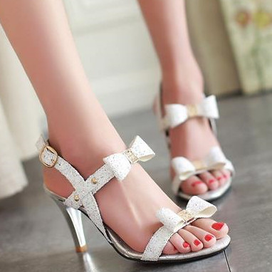 HOT sale high heels red bottom women sandals ankle strap bowtie fashion gold silver white summer prom wedding shoes<br><br>Aliexpress